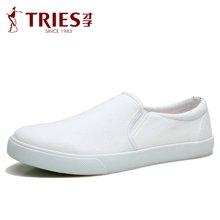 TRiES-才子男鞋韩版透气帆布鞋休闲一脚蹬板鞋乐福鞋套脚懒人布鞋G35C6605