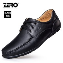 Zero零度休闲鞋男秋季新品男鞋头层舒适商务休闲鞋真皮简约男鞋子63D075