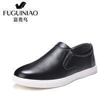 富贵鸟(FUGUINIAO)富贵鸟板鞋男套脚休闲鞋男鞋皮鞋轻便乐福鞋 A650003
