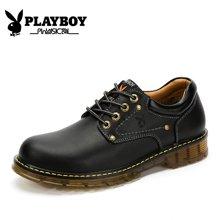 花花公子男鞋秋季工装鞋男低帮复古休闲鞋耐磨新款CX39117
