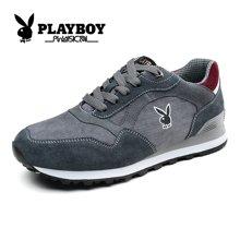 花花公子男鞋运动休闲鞋春季鞋子潮鞋韩版透气帆布板鞋跑步鞋CX37138