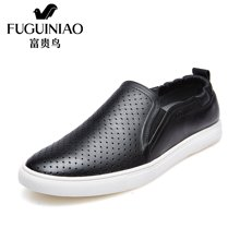 富贵鸟(FUGUINIAO)时尚新潮男士套脚便捷弹力织布平底鞋休闲鞋男鞋生活鞋 E689110