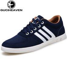 古奇天伦新款男士休闲鞋韩版板鞋低帮透气运动鞋 Q6811
