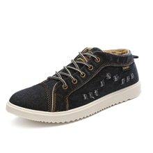 植木直透气帆布鞋韩版男士板鞋时尚牛仔鞋夏季运动休闲鞋1605016