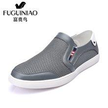 富贵鸟(FUGUINIAO)夏季新品 时尚男士套脚日常休闲透气网面男鞋子平底鞋 E697626