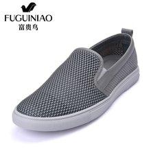 富贵鸟(FUGUINIAO) 2016夏季新品网纱透气时尚休闲鞋日常舒适套脚男鞋 E689205