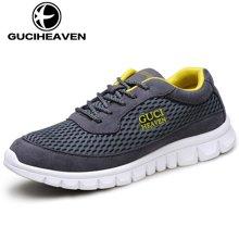 古奇天伦新款男鞋透气休闲板鞋运动网鞋舒适跑步男鞋 Q6505