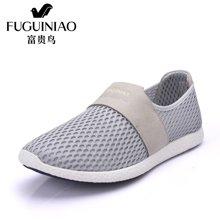 富贵鸟(FUGUINIAO)富贵鸟休闲男鞋时尚网面透气舒适套脚平跟鞋日常生活鞋子 E644565