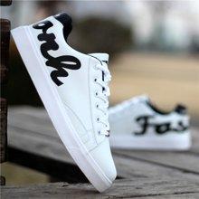 植木直韩版男士运动休闲鞋潮流透气低帮板鞋男白色学生单鞋子160307