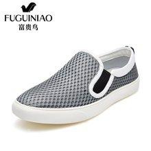 富贵鸟(FUGUINIAO)富贵鸟男鞋夏季透气网布鞋休闲鞋套脚运动网鞋男板鞋 E697620