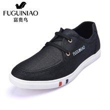 富贵鸟(FUGUINIAO)男鞋帆布鞋潮流男士低帮板鞋休闲布鞋子 S647006E