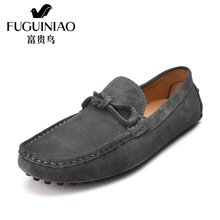 富贵鸟(FUGUINIAO)男士反绒皮豆豆鞋 新款时尚驾车鞋男鞋潮流休闲鞋 S608033