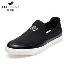 富贵鸟(FUGUINIAO)富贵鸟男鞋新品 休闲鞋男 潮流板鞋轻便 乐福鞋 S686170