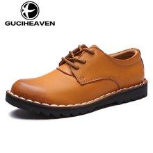 古奇天伦2017新款商务休闲皮鞋大头皮鞋工装鞋 GH802