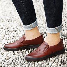 【下单立减50元】才子新款男士皮鞋男鞋鞋子休闲鞋商务鞋青年软底圆头套脚潮鞋G24C17801
