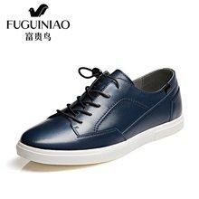 富贵鸟(FUGUINIAO)新潮头层牛皮富贵鸟男鞋日常生活鞋个性休闲鞋单鞋男 S703093