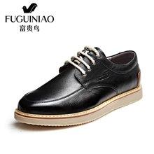 富贵鸟(FUGUINIAO)富贵鸟男鞋时尚男士系带生活休闲皮鞋圆头男鞋子 S750018