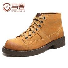 马登加绒保暖马丁靴男靴子男士皮靴英伦雪地短靴迷彩军靴韩版潮流高帮男鞋潮鞋 MD1607135