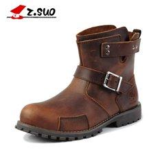 Z.Suo/走索新款英伦马丁靴秋冬季男士休闲皮靴潮流短靴军靴男潮 ZSX122