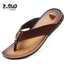 Z.Suo/走索男鞋人字拖男士休闲鞋皮拖鞋男夏季沙滩鞋凉拖鞋子 ZS918