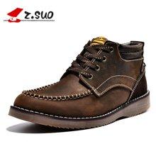 Z.Suo/走索男鞋潮流户外靴男秋冬休闲鞋英伦靴子男短靴时尚潮鞋 ZS15109