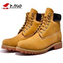 Z.Suo/走索男鞋英伦马丁靴男秋冬季工装靴男军靴短靴大黄靴子男 ZS10061