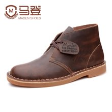马登马丁靴男靴英伦风皮靴子男士高帮雪地短靴沙漠靴工装男鞋春季潮鞋 1407023