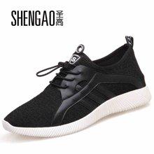 圣高夏季椰子鞋男士透气网鞋男隐形内增高男鞋增高鞋运动鞋网面鞋  7686