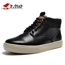 Z.Suo/走索男鞋新款英伦户外靴男士短靴高帮男鞋潮流马丁靴男春 ZS9705