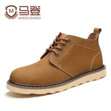 马登男士靴子男冬季马丁靴男英伦高帮皮靴短靴工装靴男鞋潮流 MA1507045