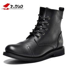 Z.Suo/走索男鞋皮靴男军靴英伦马丁靴子中筒户外靴男鞋子潮 ZSGTY16056