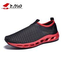 Z.Suo/走索男鞋网面跑步鞋休闲运动鞋大码网鞋潮情侣网鞋透气网鞋 ZSD01