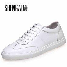 圣高春夏季新款男休闲鞋运动板鞋隐形内增高鞋男士小白鞋男鞋子  2168