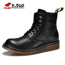 Z.Suo/走索男靴英伦马丁靴男冬季靴子工装鞋男士短靴高帮男鞋潮 ZS885G