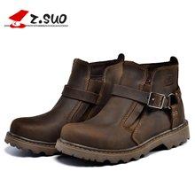 Z.Suo/走索情侣靴英伦马丁靴男皮靴工装军靴短靴潮高帮鞋 ZS337B