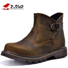 Z.Suo/走索男鞋皮靴男冬季马丁靴男英伦工装靴短靴情侣款鞋子潮 ZS327