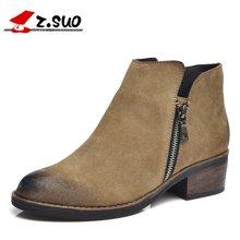 Z.Suo/走索新款马丁靴女士休闲鞋靴子女短靴切尔西靴女鞋潮 ZS1011