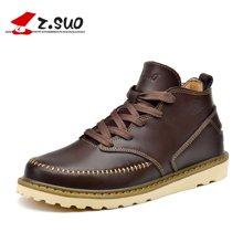 Z.Suo/走索男鞋女鞋潮流情侣靴春秋款小白鞋女士休闲鞋英伦短靴 ZS058N