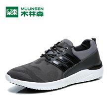 木林森春夏季男鞋休闲鞋男士运动鞋跑步鞋子男韩版系带百搭透气潮鞋  270223