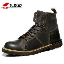 Z.Suo/走索男鞋新款英伦马丁靴男士休闲鞋潮流户外靴子短靴 ZS0213