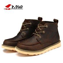 Z.Suo/走索男鞋英伦马丁靴男靴工装靴短靴雪地靴皮靴潮鞋子 ZS088