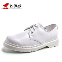 Z.Suo/走索女鞋小白鞋女春季休闲鞋单鞋低帮鞋子马丁鞋皮鞋女潮 ZS18018N