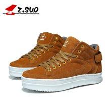 Z.Suo/走索女鞋潮流雪地靴女韩版潮鞋内增高休闲鞋女短靴 ZS1203