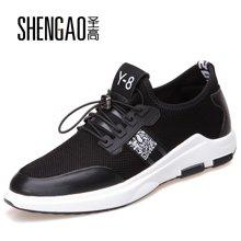 圣高春夏季新款男士网面鞋内增高时尚休闲鞋英伦风潮流运动休闲男鞋子  685