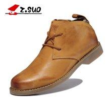 Z.Suo/走索男鞋工装靴子男士皮靴英伦马丁靴男牛仔靴短靴军靴潮 ZS699G