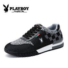 花花公子男鞋秋季透气休闲运动鞋子网鞋网面板鞋跑步鞋男板鞋子男CX39244