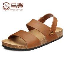 马登男士凉鞋新款夏季男款皮凉鞋男夏休闲鞋韩版沙滩鞋男鞋潮 1601077