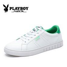 花花公子男鞋秋季小白鞋男板鞋潮流百搭白色鞋子男韩版运动休闲鞋CX39286