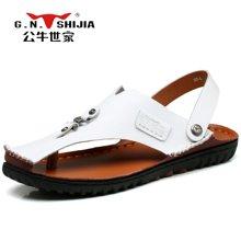 公牛世家凉鞋男夏季韩版男士沙滩鞋单鞋两穿男凉鞋拖鞋 888288