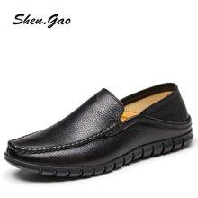 圣高男士乐福鞋休闲鞋时尚英伦优质牛皮男士皮鞋驾车鞋 8627